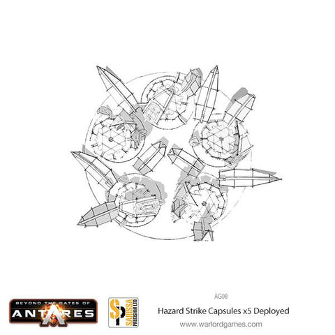 x5 Hazard Strike Capsules Deployed set