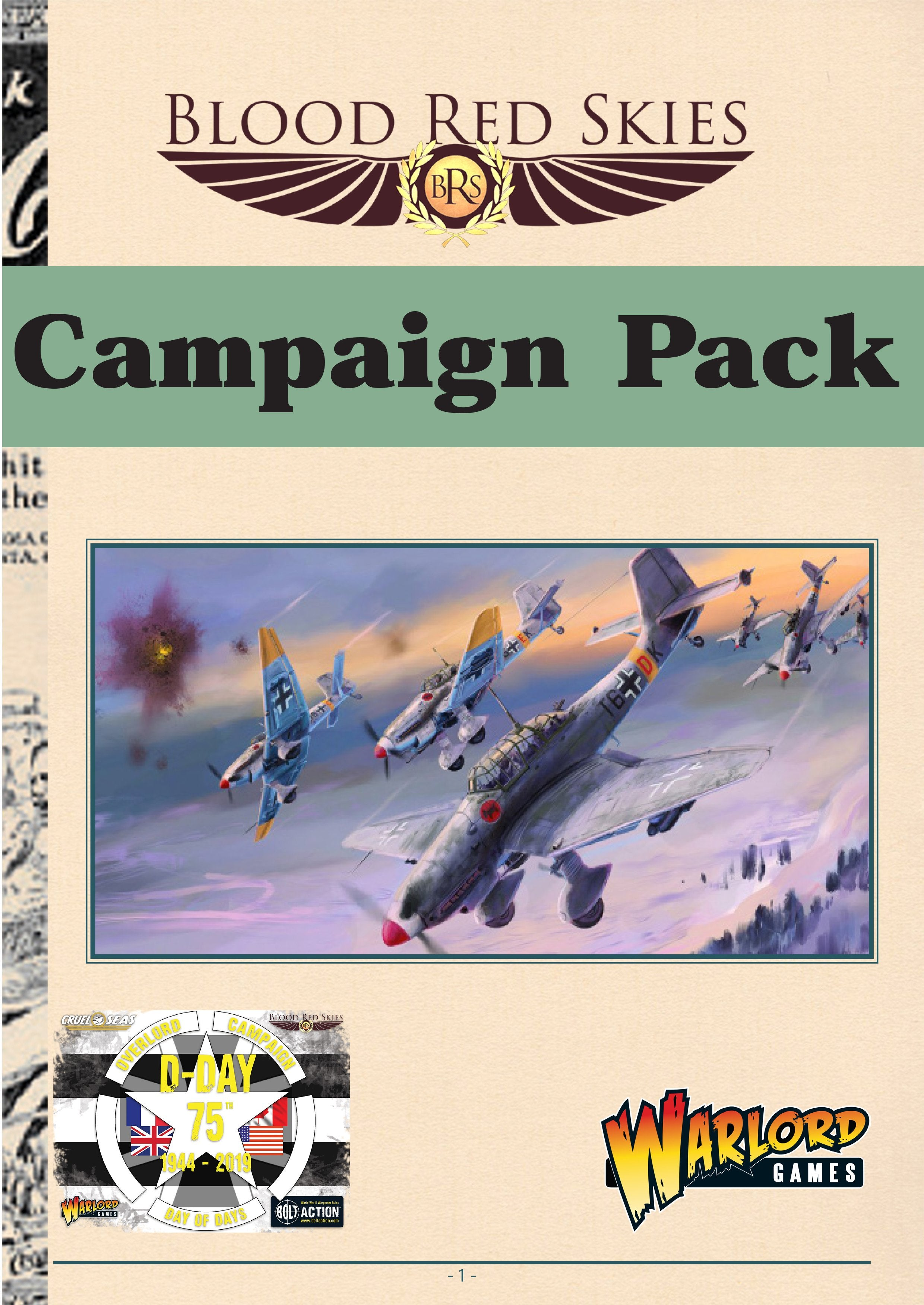 75th D-Day anniversary Campaign Pack - Blood Red Skies PDF