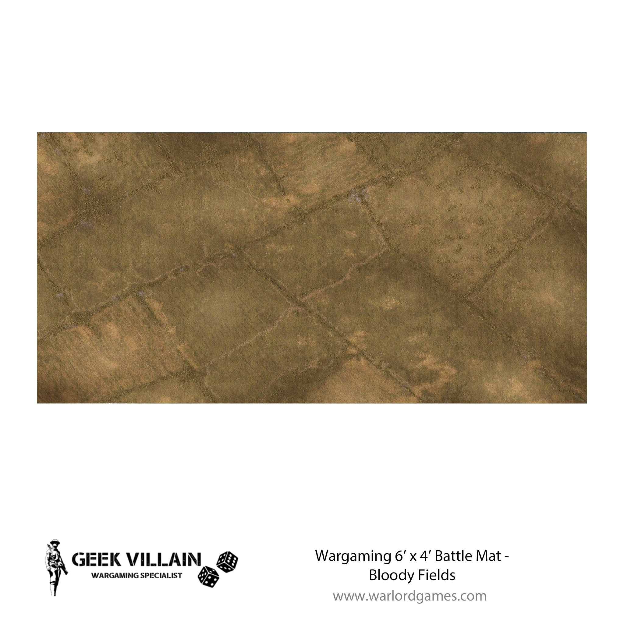 Wargaming Battle Mat 6x4 Bloody Fields