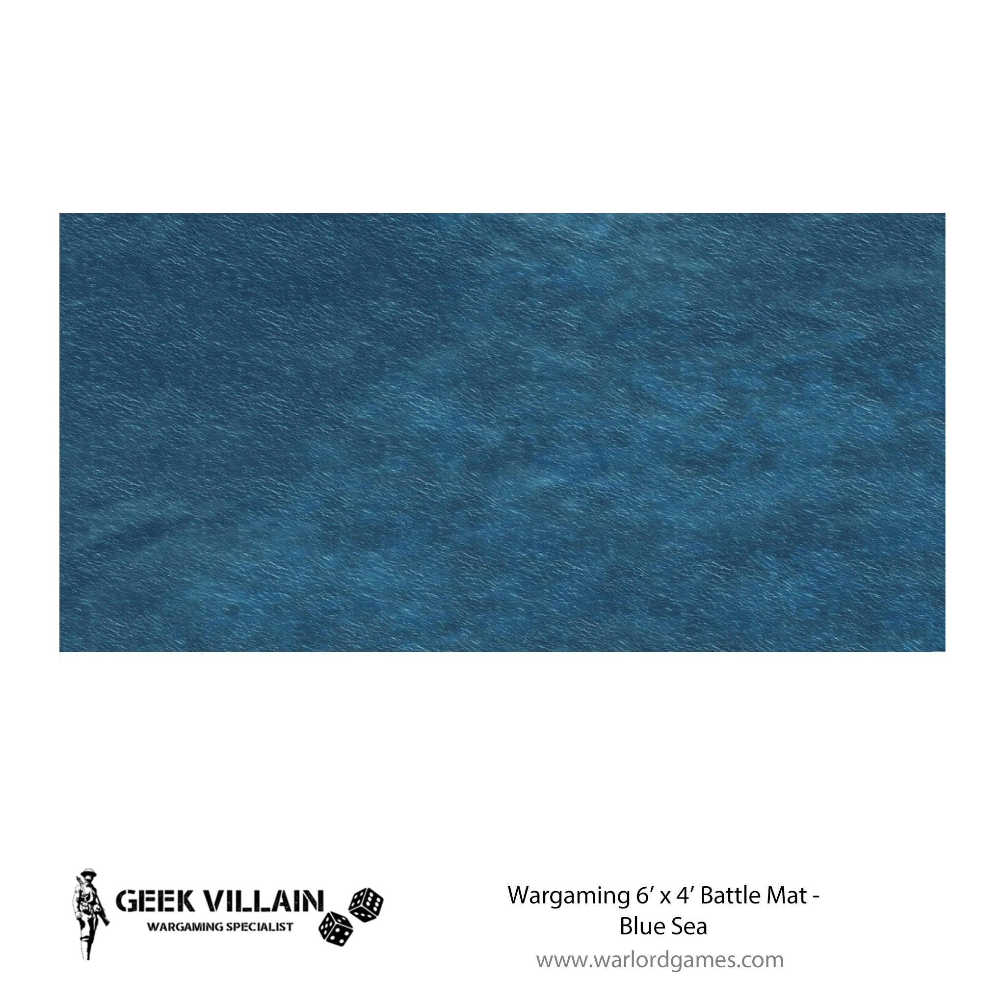 Wargaming Battle Mat 6x4 Blue Sea