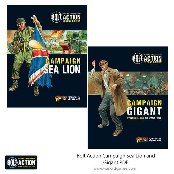 Bolt Action Campaign Sea Lion and Gigant PDFs