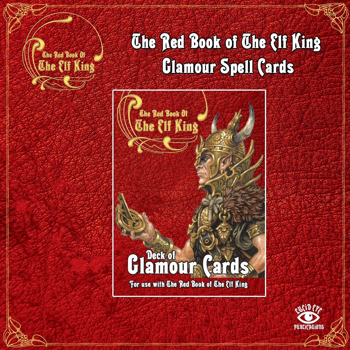 The Red Book of The Elf King: Deck of Glamour Cards