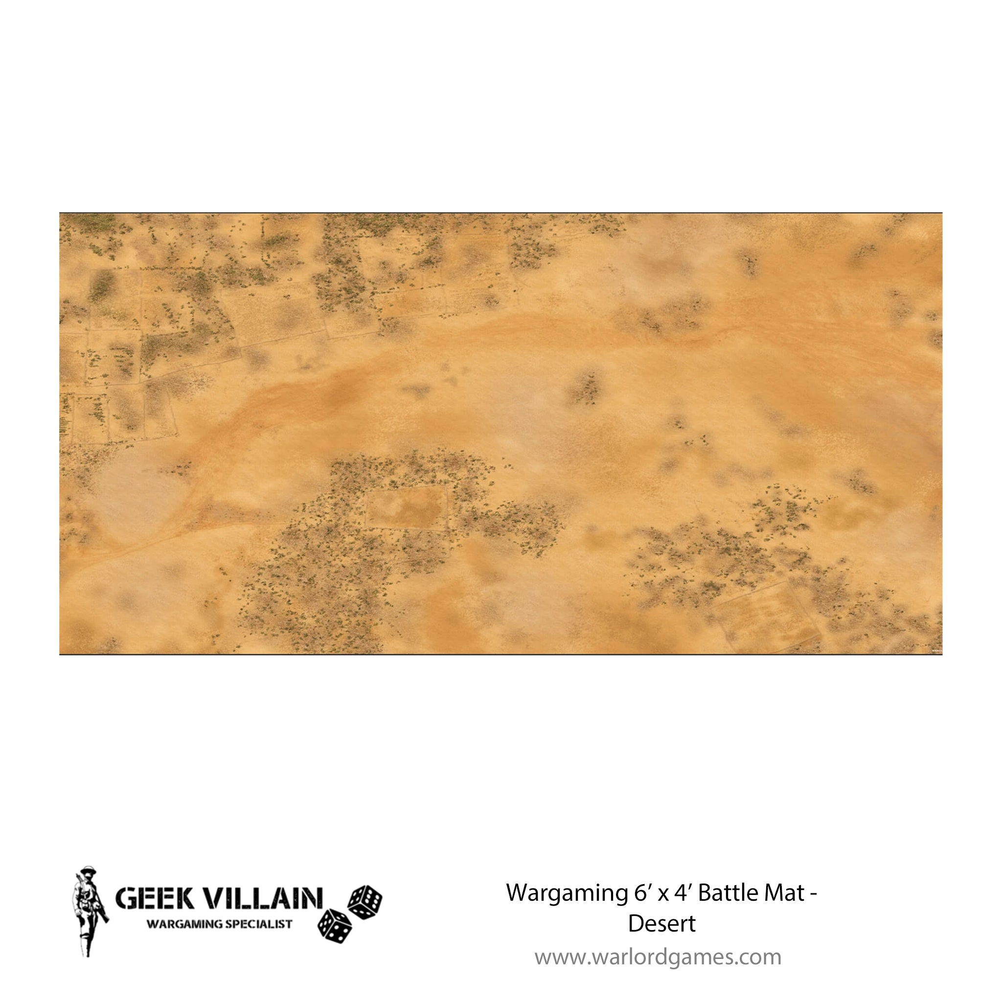 Wargaming Battle Mat 6x4 Desert