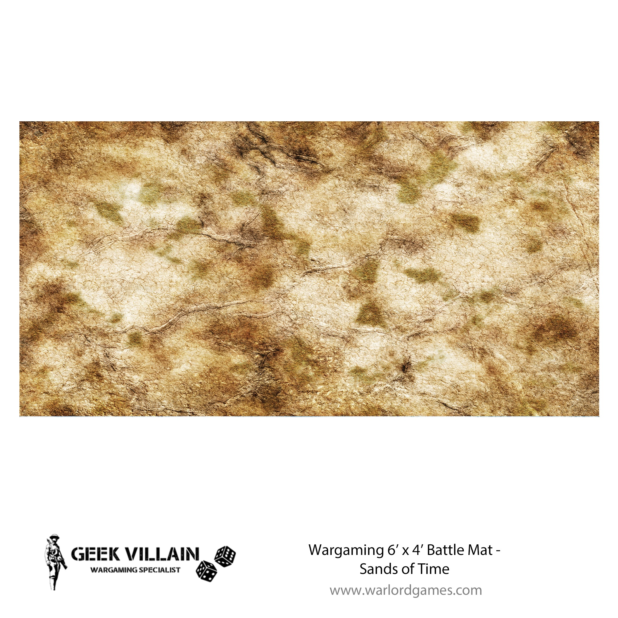 Wargaming Battle Mat 6x4 Sands of Time
