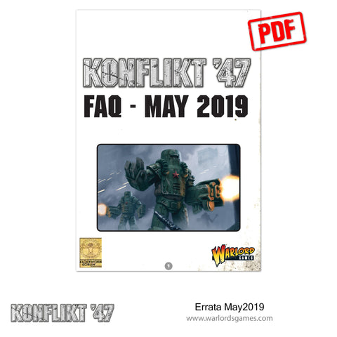 Konflikt'47 FAQ & Errata May 2019