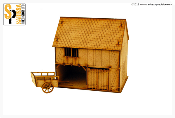 English Timber Framed Cart Shed & Cart