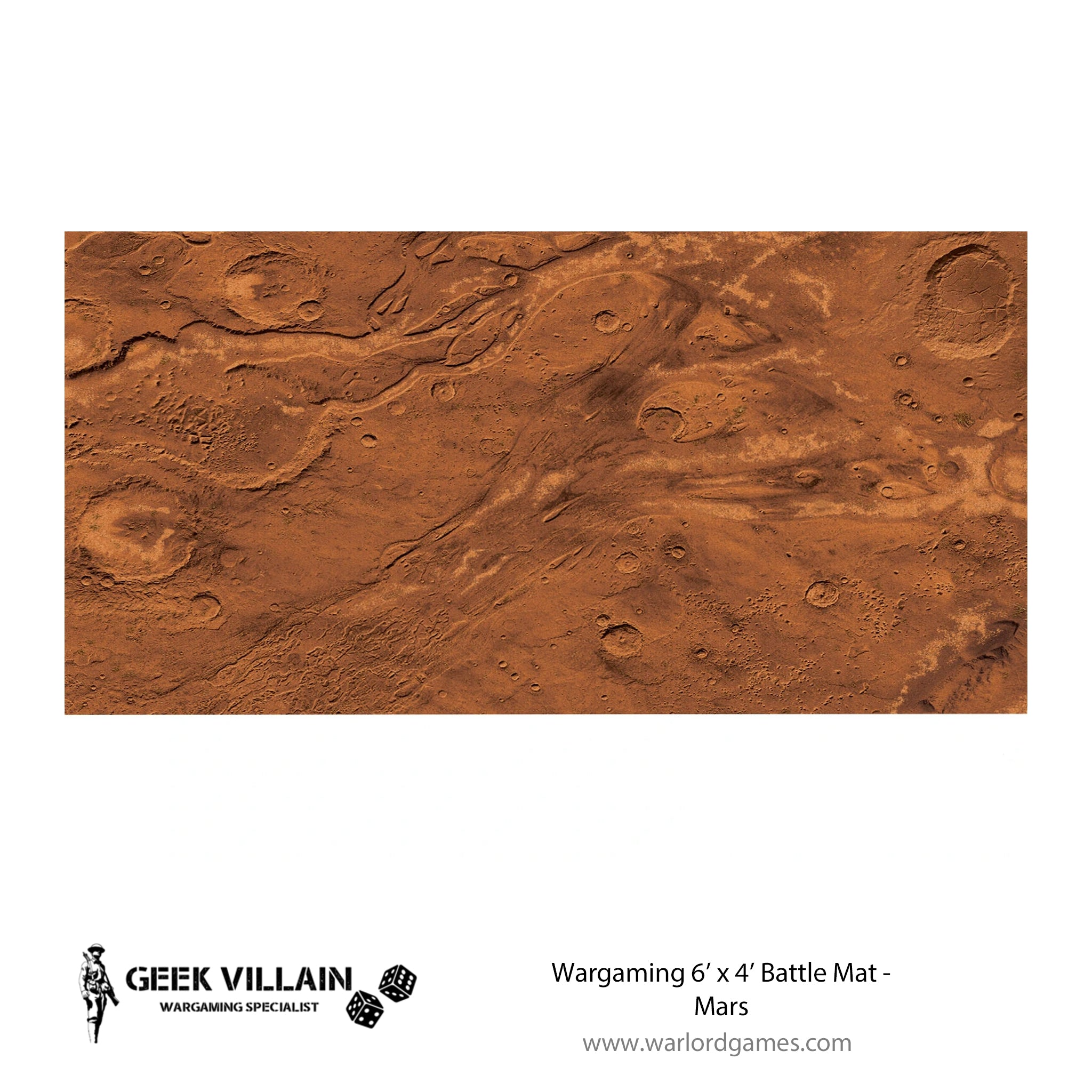 Wargaming Battle Mat 6x4 Mars