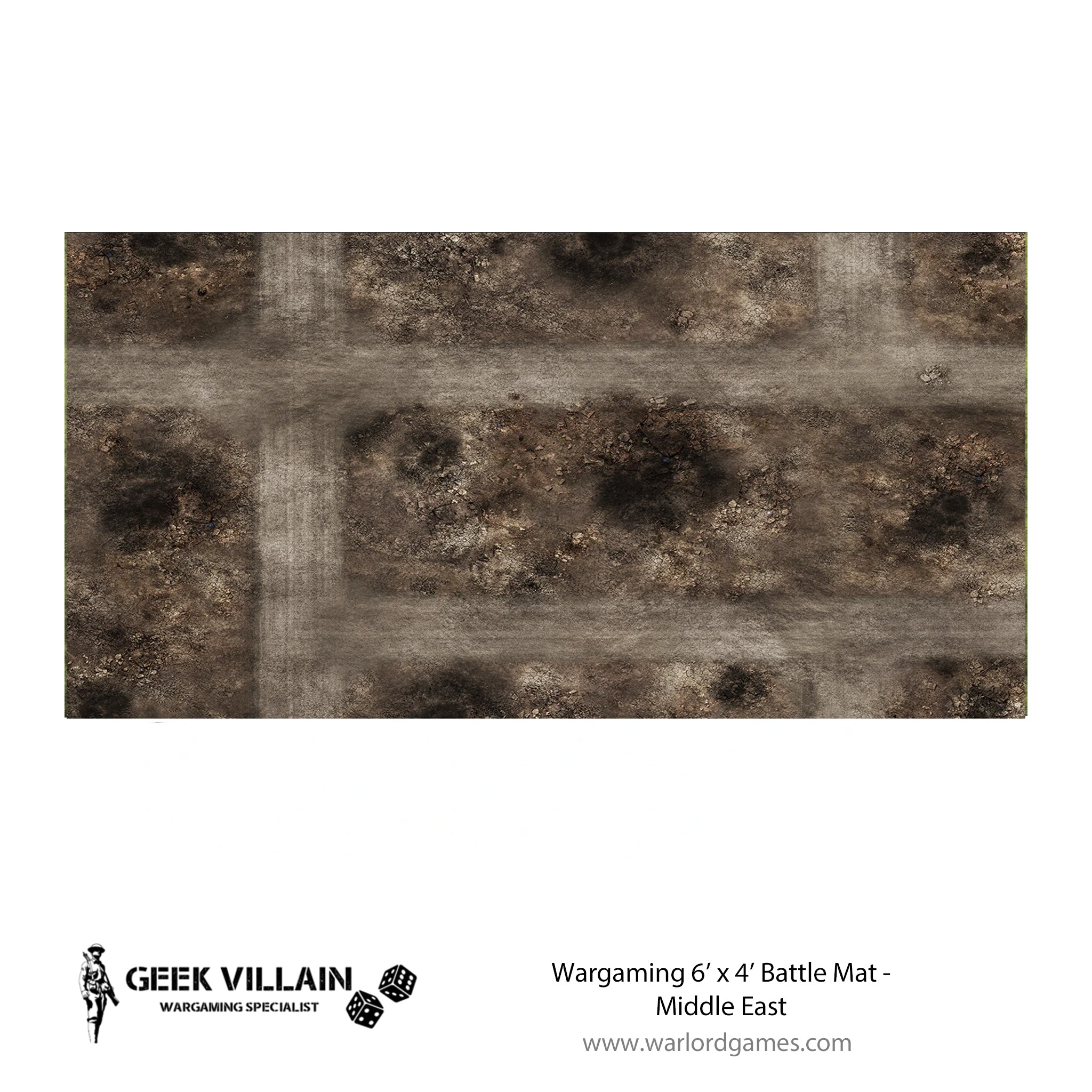 Wargaming Battle Mat 6x4 Middle East