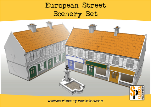 European Street Scenery Set