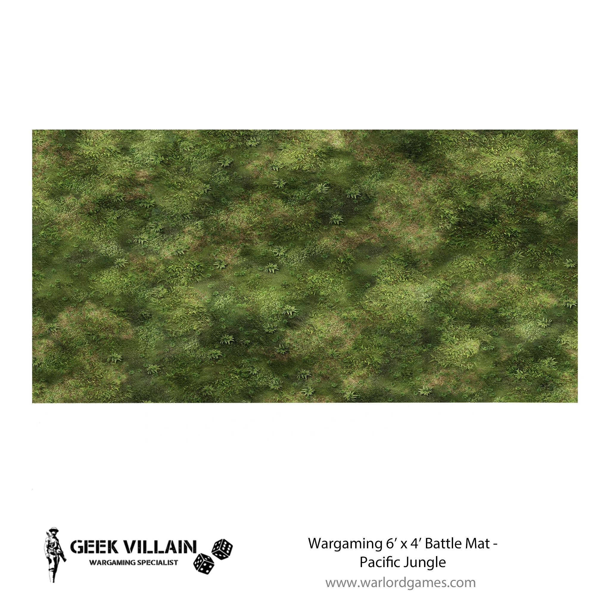Wargaming Battle Mat 6x4 Pacific Jungle