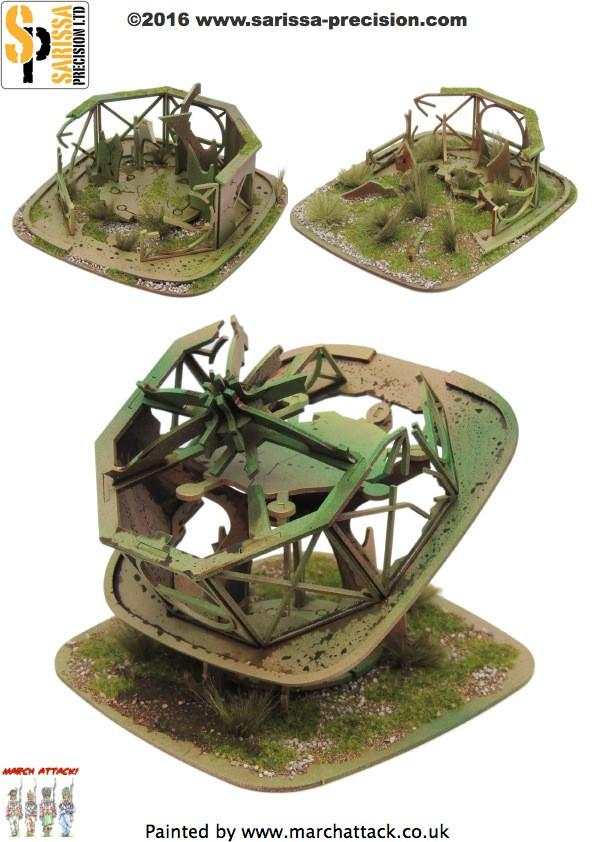 Ruined Stanchion Building Set
