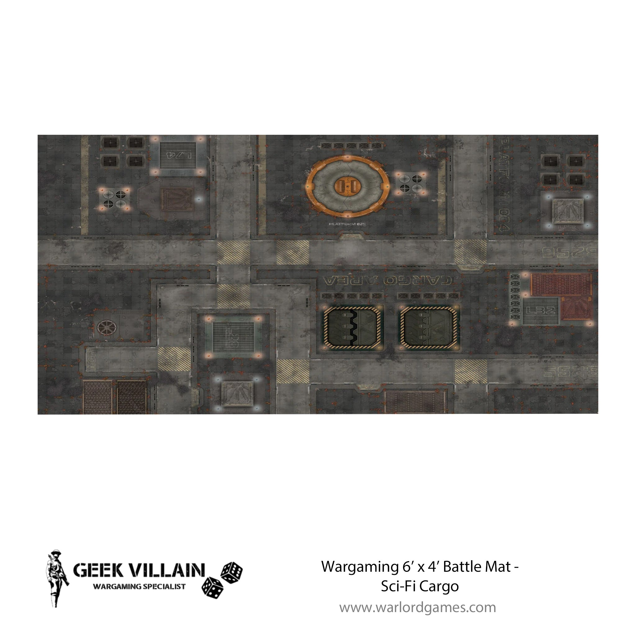 Wargaming Battle Mat 6x4 Sifi Cargo