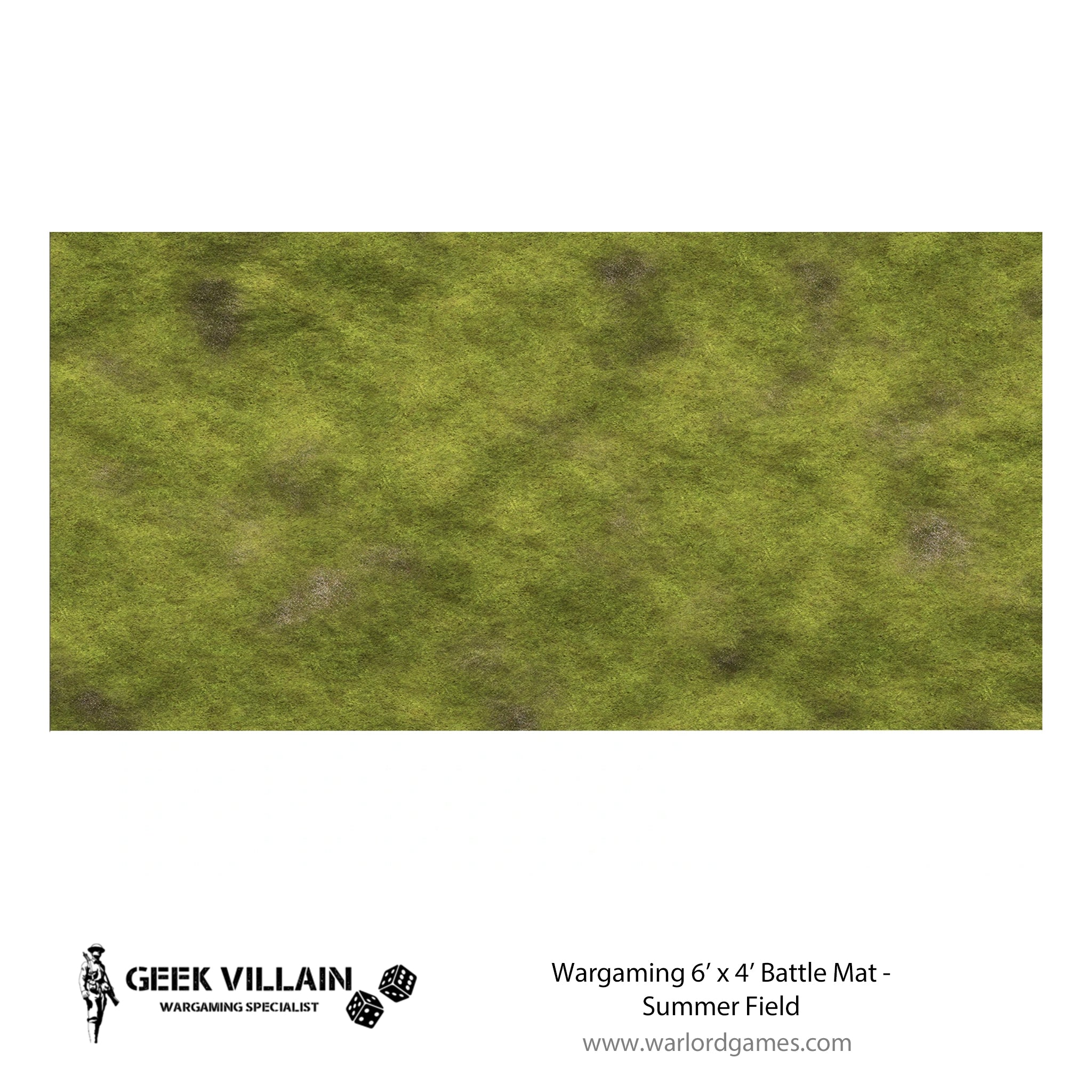 Wargaming Battle Mat 6x4 Summer Field