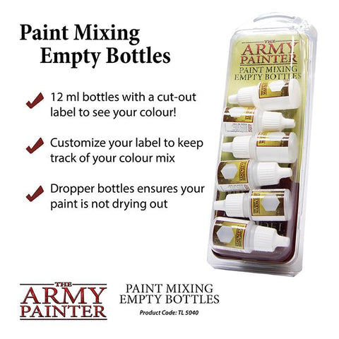 Paint Mixing Empty Bottles