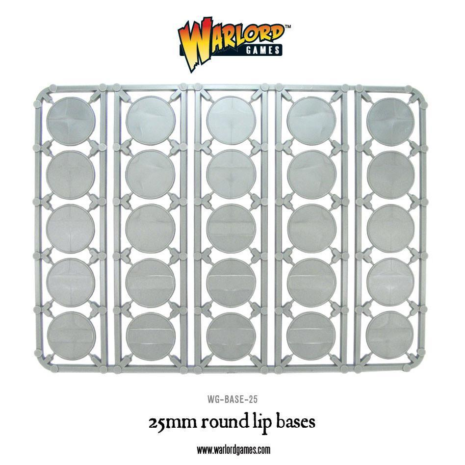 25mm round lip bases sprue