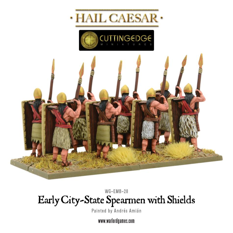 Early City-State Spearmen with shield