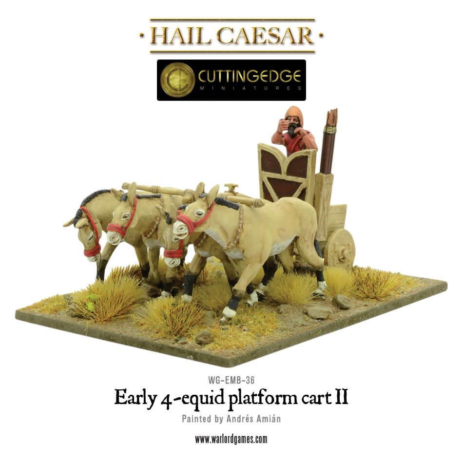 Early 4-equid platform cart II