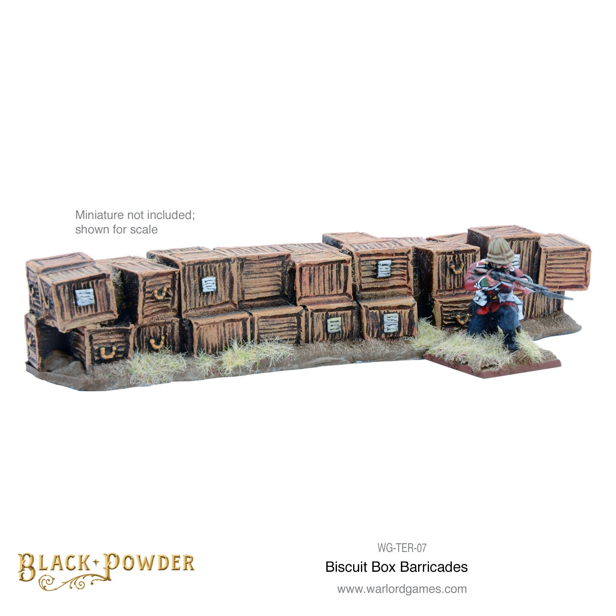 Anglo-Zulu War  Biscuit Box barricade set