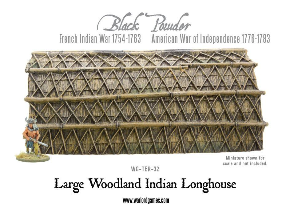 Large Woodland Indian Longhouse