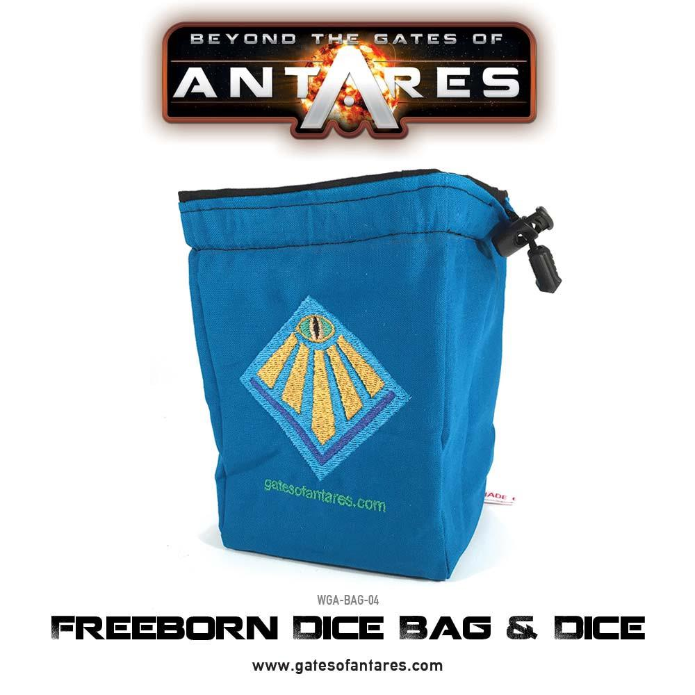 Freeborn Dice Bag and Dice