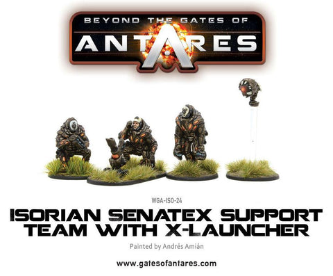 Isorian Senatex support team with X-Launcher