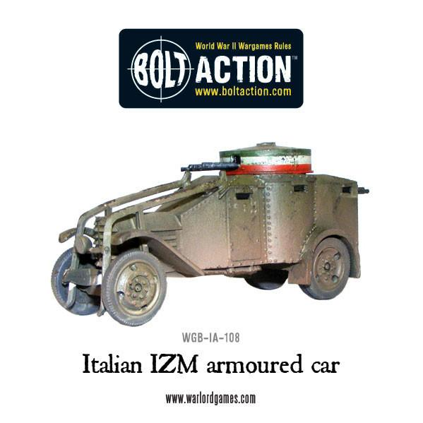 Italian IZM armoured car