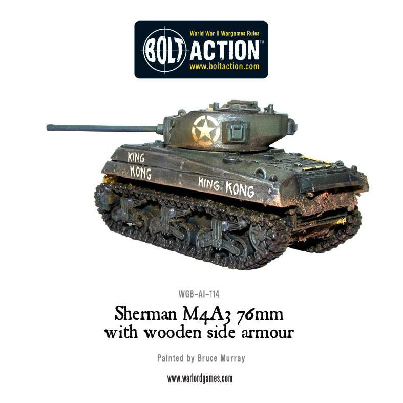 Sherman M4A3 (76mm) with wooden armour