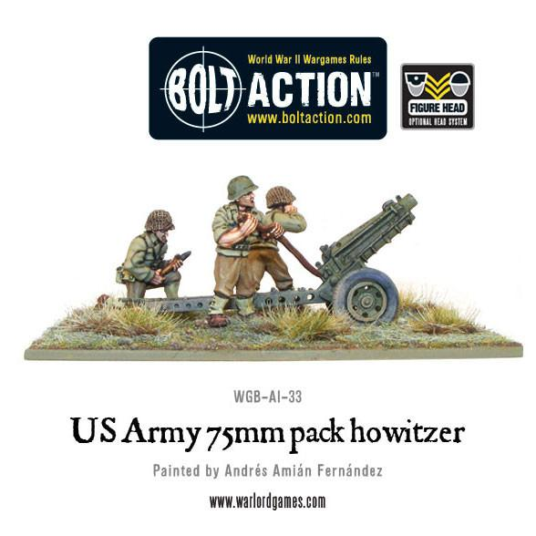 US Army 75mm pack howitzer