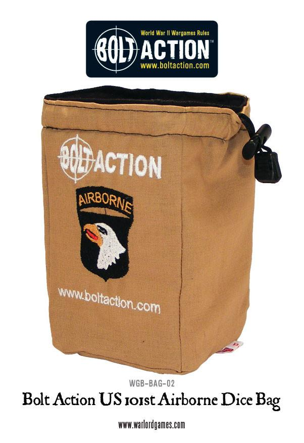Bolt Action 101st Airborne Dice Bag & Dice