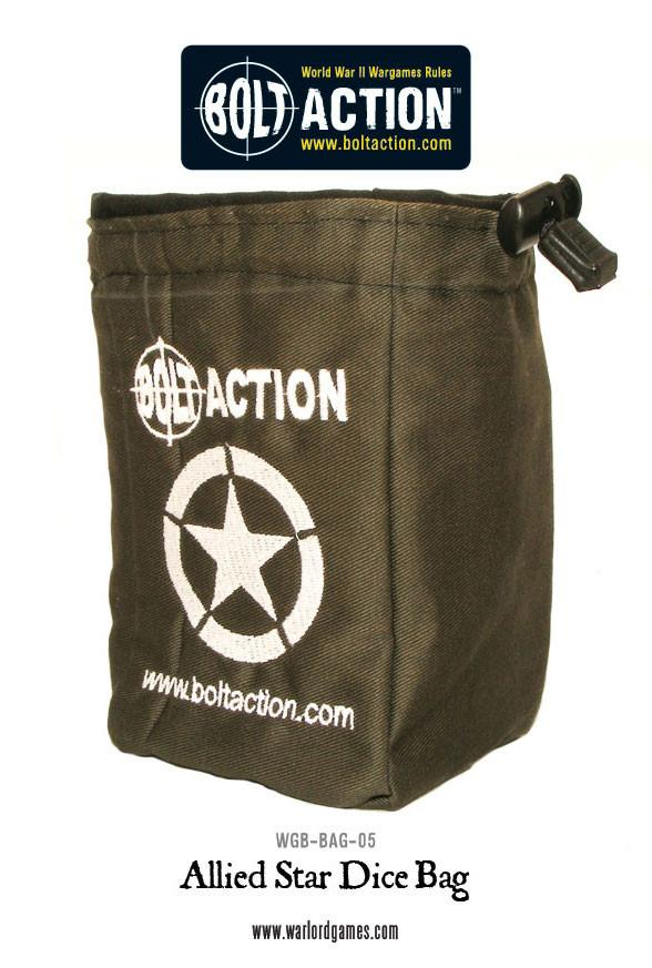 Bolt Action Allied Star Dice Bag & Dice