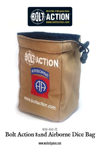 Bolt Action 82nd Airborne Dice Bag & Dice