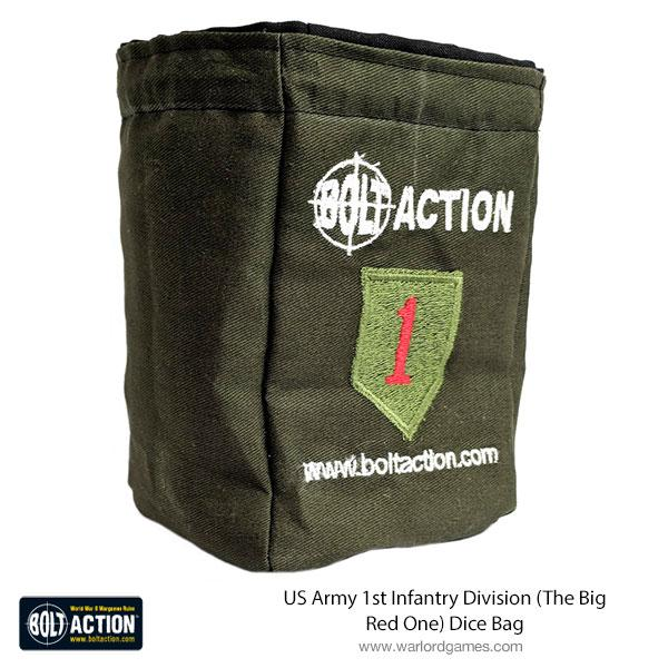 US Army 1st Infantry Division (The Big Red One) Dice Bag