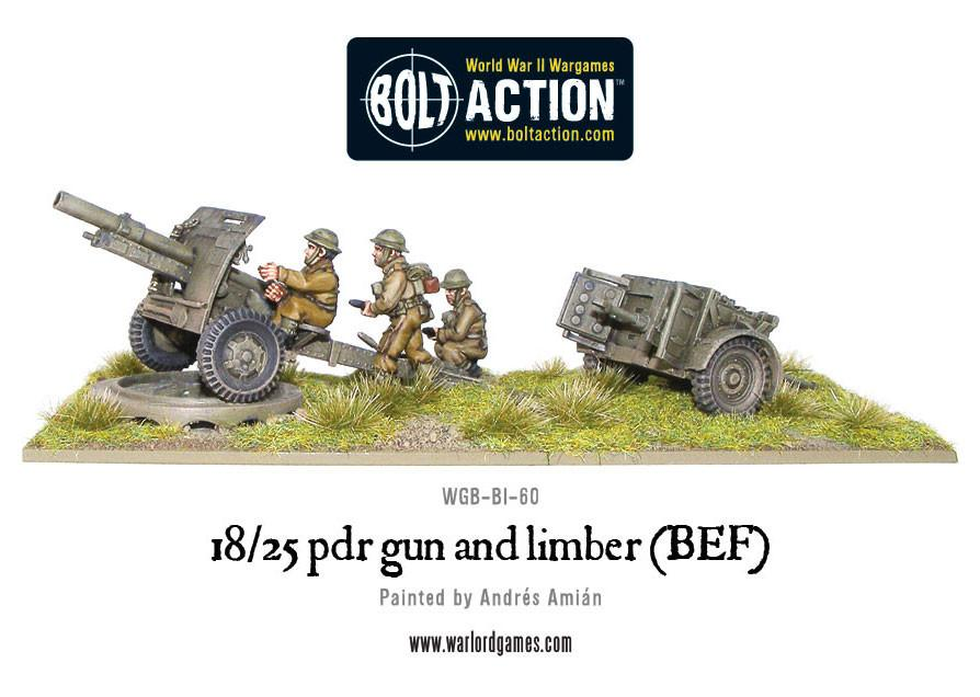 18/25pdr Gun and Limber (BEF)