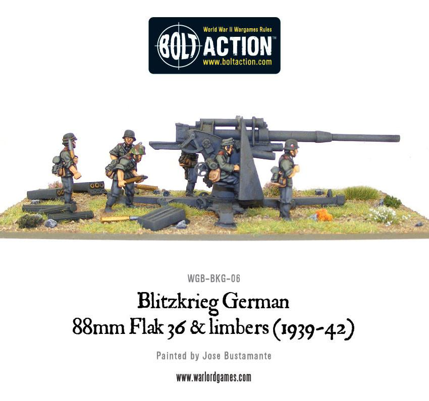 Blitzkrieg German 88mm Flak 36 & limbers (1939-42)