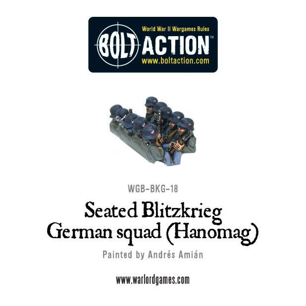 Seated Blitzkrieg German squad (Hanomag)