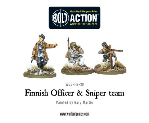 Finnish Officer & Sniper team