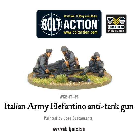 Italian Army 47mm Elefantino anti-tank gun