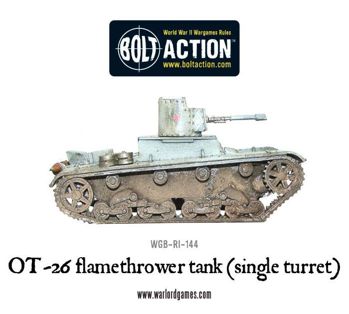 OT-26 flamethrower tank (single turret)
