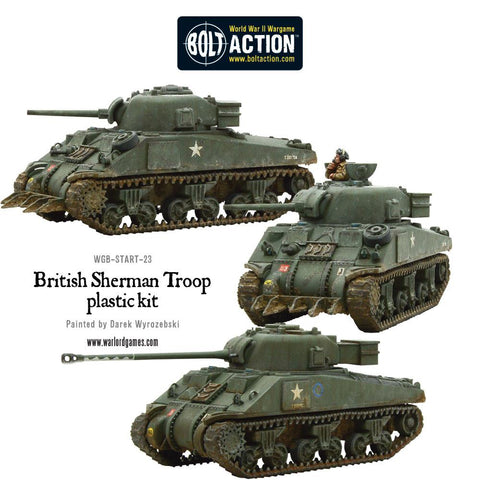 British Sherman V Troop including Vc Firefly