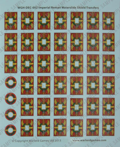 EIR Legionary shield designs waterslide transfers