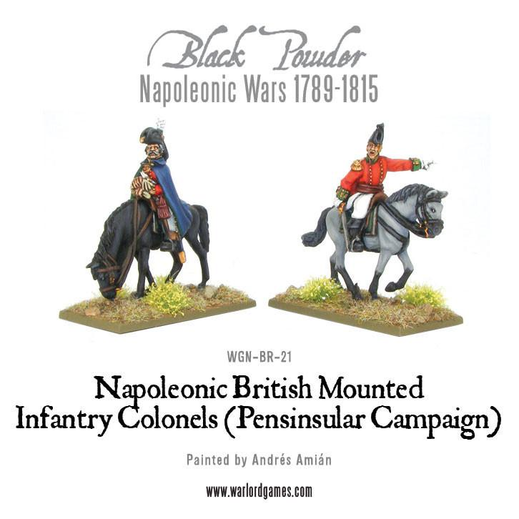 Mounted Napoleonic British Infantry Officers (Pensinsular War)