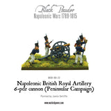 Napoleonic British Royal Artillery 6-pdr cannon (Peninsular Campaign)