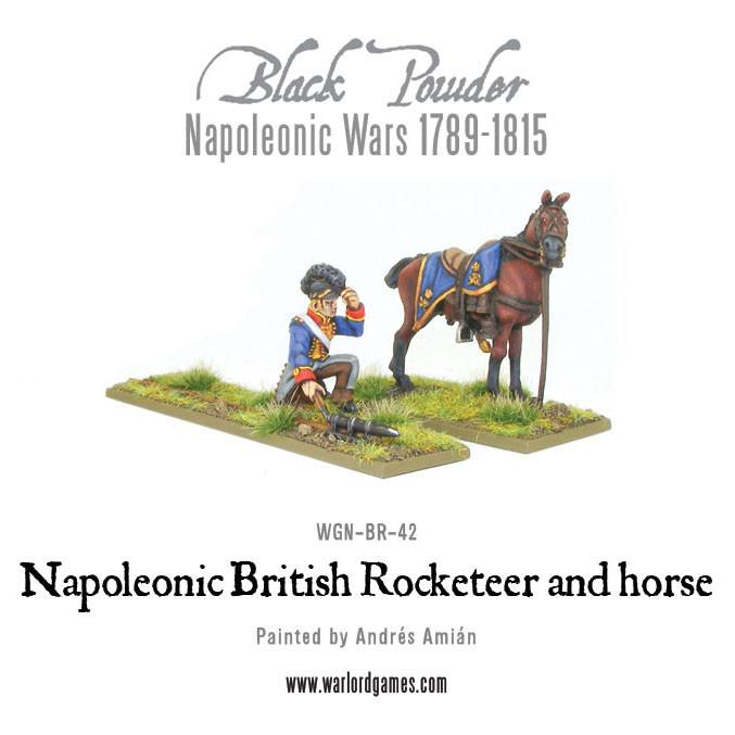 Napoleonic British Rocketeer with horse