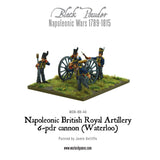 Napoleonic British Royal Artillery 6-pdr cannon (Waterloo Campaign)