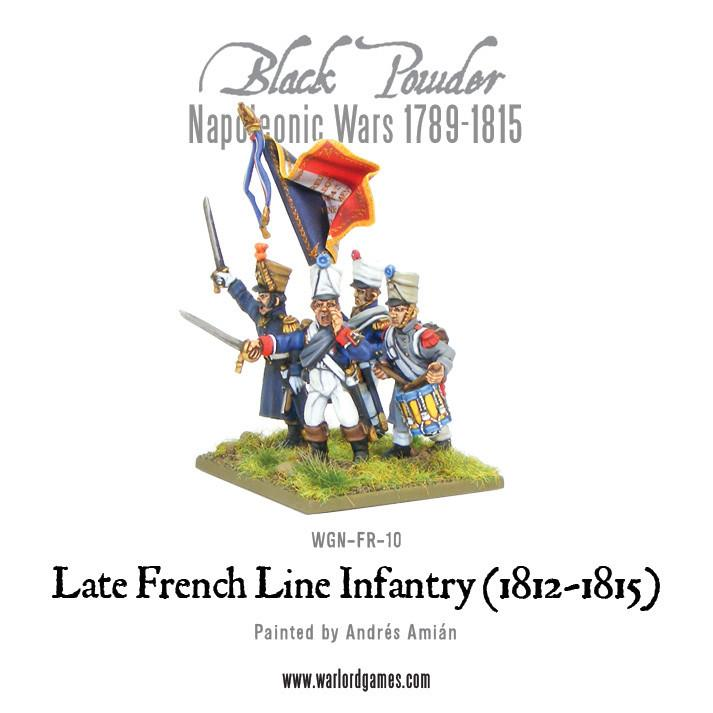Napoleonic War Late French Line Infantry (1812-1815)