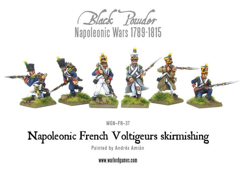 Napoleonic French Voltigeurs skirmishing