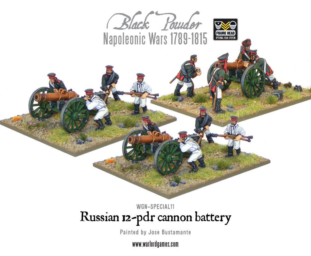 Napoleonic Russian 12-pdr battery