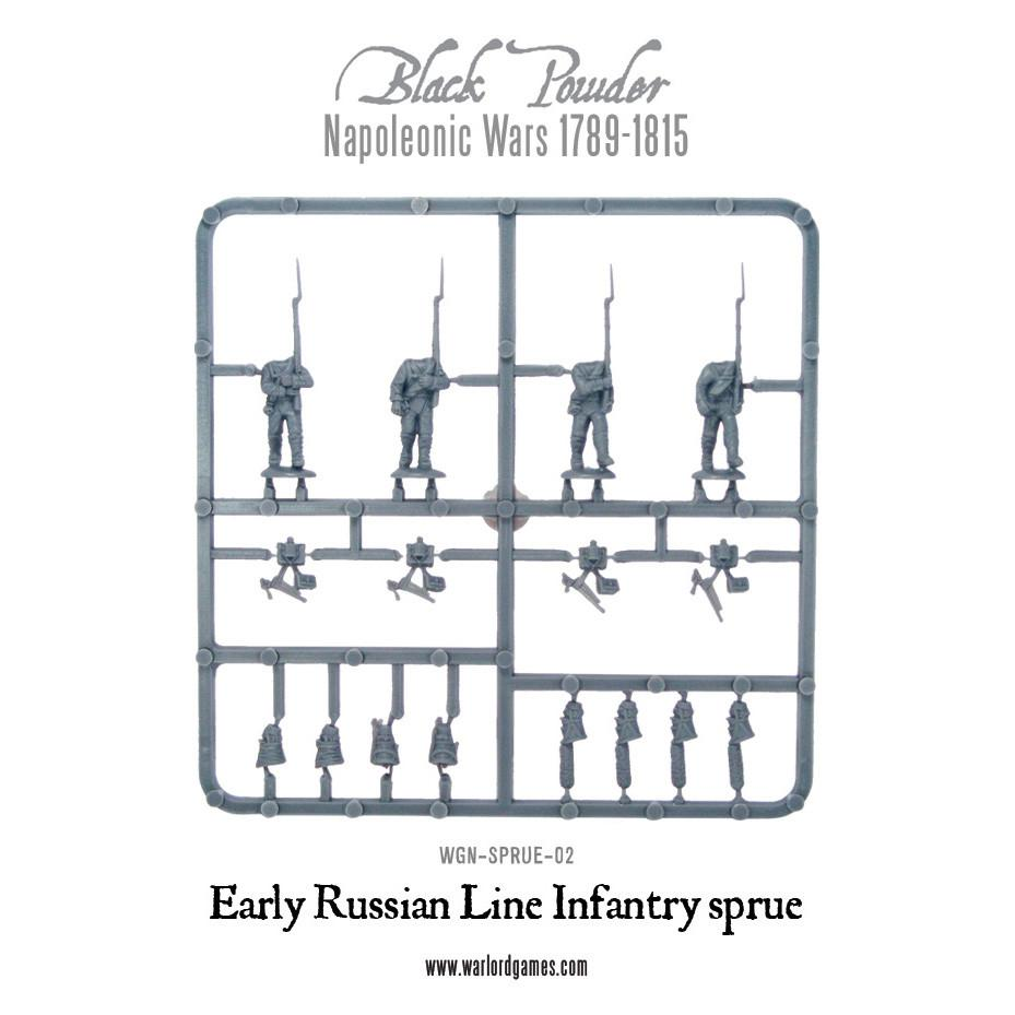 Early 1809 Russian Line Infantry Sprue