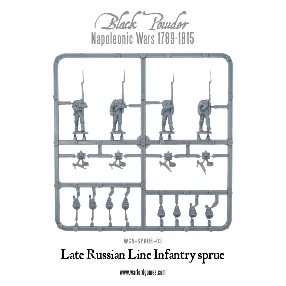 28mm Russian Infantry 1812 sprues-Warlord games