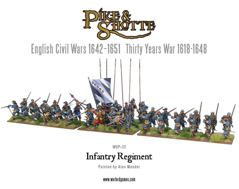 Pike & Shotte Infantry Regiment plastic boxed set